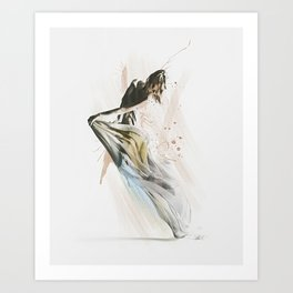Drift Contemporary Dance Art Print