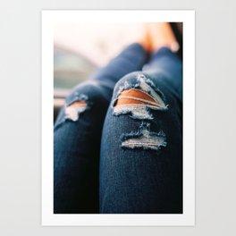Ripped Jeans Art Print