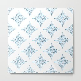 Dimond water color pattern - Blue Metal Print