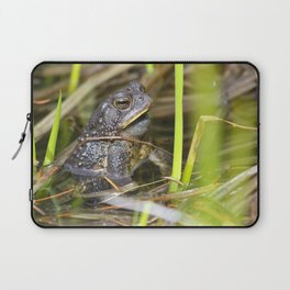 Toad in the pond Laptop Sleeve