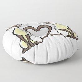 Cat Design Cat Heart For Cat Mom Floor Pillow
