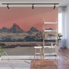 SUNSET AT THE GRAND TETONS Wall Mural