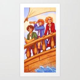 Piratey Trio Art Print
