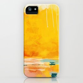 sunny landscape iPhone Case