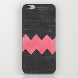 Washed Grey and Pink Chevron iPhone Skin
