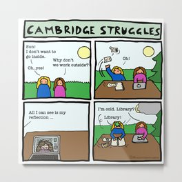 Cambridge struggles: Sun Metal Print