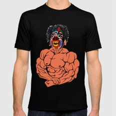 MASK MUSCLE MAN MEDIUM Black Mens Fitted Tee