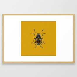 Scarabee carotte Framed Art Print