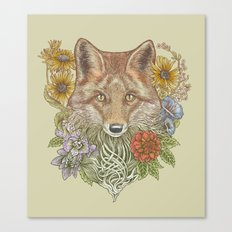 Fox Garden Canvas Print