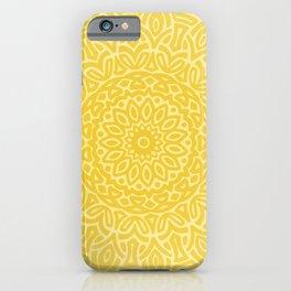 Hand Drawn Mandala // Sunshine Yellow Tribal Eclectic Intricate Modern Minimal Trending Popular iPhone Case