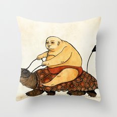 Lazy Tarzan Throw Pillow