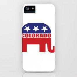 Colorado Republican Elephant iPhone Case