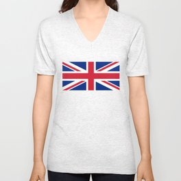 UK Flag - High Quality Authentic 1:2 scale Unisex V-Neck