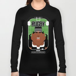 Rugby Black - Maul Propknockon - Aretha version Long Sleeve T-shirt