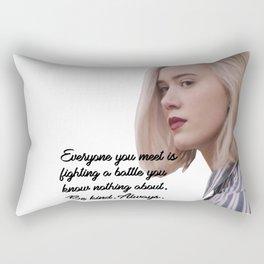 SKAM - Noora - Everyone is fighting a battle 2 Rectangular Pillow
