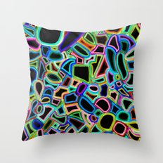 drenched in black color Throw Pillow