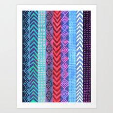 PATTERN {Peru Stripe} Art Print