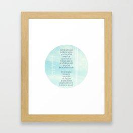 Validation Framed Art Print