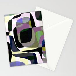 Mid Century Abstract 2 Stationery Cards