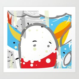 cotton chick #1 Art Print
