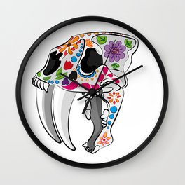 Day of the extinct: Sabretooth Wall Clock