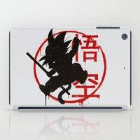 goku iPad Cases featuring Jump Goku by le.duc