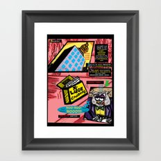 Bird of Steel Comix - Page #3 of 8 (Society 6 POP-ART COLLECTION SERIES)  Framed Art Print