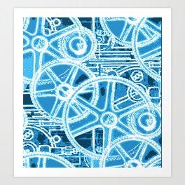 Geared Up ( Big Blue) Art Print