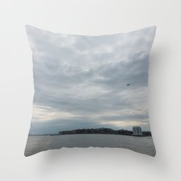 Clouds Over Governor's Island Throw Pillow