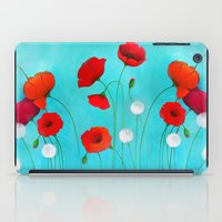 poppies iPad Cases featuring Poppies by Sybile Art