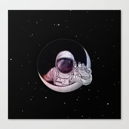 Astronaut Moon Canvas Print