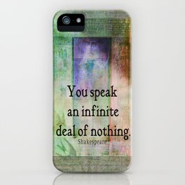 Shakespeare insult Quote from Merchant of Venice iPhone Case
