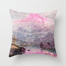 Winter Sunset, Mount Hood, Oregon by Jeanpaul Ferro Throw Pillow