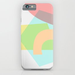 Sunny Side - Abstract Geometric Light Pastel iPhone Case
