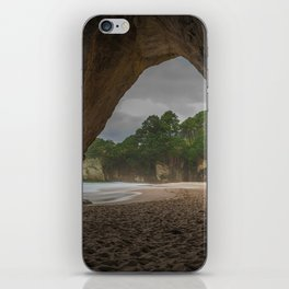 Dawn at Cathedral Cove 2 iPhone Skin