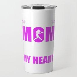 Softball Moms Full Heart Mothers Day T-Shirt Travel Mug