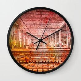 Abandoned Silk Mill - Pastel Grunge Wall Clock
