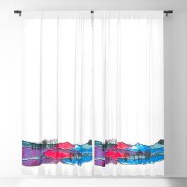 Multicolored Landscape Diptych Part 2 Blackout Curtain
