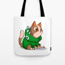 Cat dinosaur costume Tote Bag