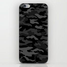 NEW AGE BLACK CAMOUFLAGE IN 4 SHADES OF GRAY iPhone Skin