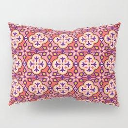 Moroccan Tile Pattern in Pink Pillow Sham
