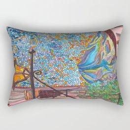 A Lamp in Antigua Rectangular Pillow