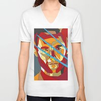 lawyer V-neck T-shirts featuring James Howlett by Liam Brazier