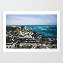 Jetty Fishing || Oregon Coast Art Print