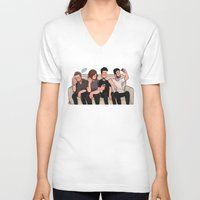 boys V-neck T-shirts featuring boys by skyberia