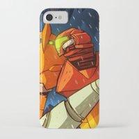 metroid iPhone & iPod Cases featuring Samus (Metroid) by Peerro