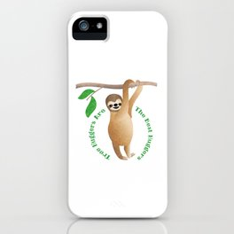 Tree Hugger Sloth iPhone Case