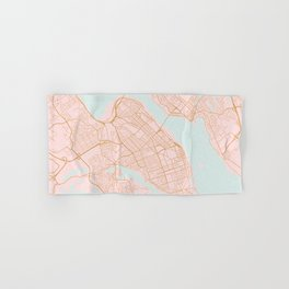 Halifax map, Canada Hand & Bath Towel