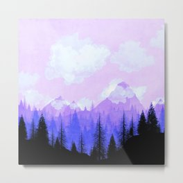 Purple Mountains Metal Print