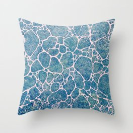 Ocean Foam Throw Pillow